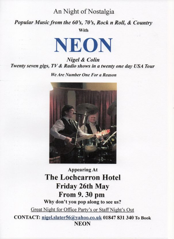 Neon - Scotland's only all live, no backing tracks, duo.