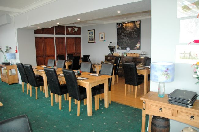 The comfortable and spacious restaurant also enjoys magnificent views across Loch Carron. The head chef has created 2 delicious menus, a bar menu and a specials' menu, both of which are changed regularly. Seafood, locally sourced where possible, is a speciality.