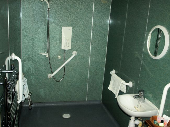 The bedroom with disabled facilities has a good sized en suite wet room.