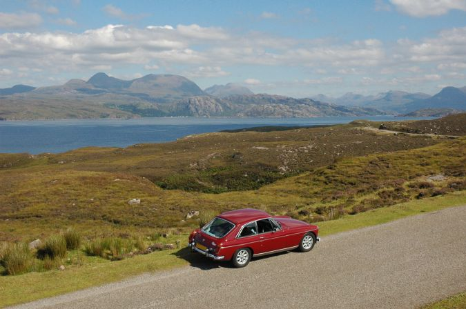 There are superb views to be seen all along the Applecross Coast Road. This photo shows the view across Loch Torridon towards the Torridon Mountains.