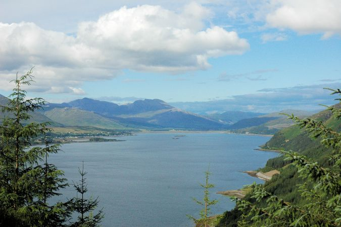 This is another view looking along the length of Loch Carron, this time from a vantage point above Stromeferry.