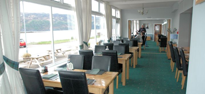 The Lochcarron Hotel is open to both residents and non-residents and offers a wide choice of delicious food and drink in comfortable friendly surroundings. Seafood, locally sourced where possible, is a speciality.
